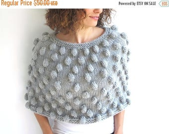 20% WINTER SALE Pop Corn Gray Capalet Cowl by Afra