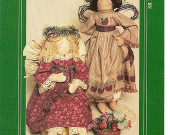 Country Angels, My Sister and I, 22 inch tall, Cloth Dolls, CraftPattern, No SR202, Country Cottage, Toy Doll Pattern, Country Decor, Gifts