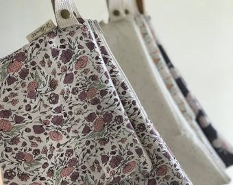 Large Leak Proof Organic Cotton Wet Bag in Blossom