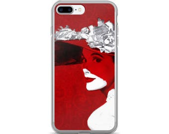 Retro Chic Vintage Lady In Red iPhone 7/7Plus Case