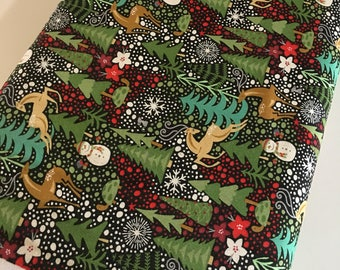Berry Merry Fabric, Christmas Fabric, Christmas Quilting fabric, Quilt fabric, Craft fabric, Beery Merry Main in Black, choose the cut
