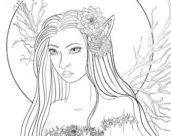 Forest Faerie~ Fantasy Art~ Digital Download