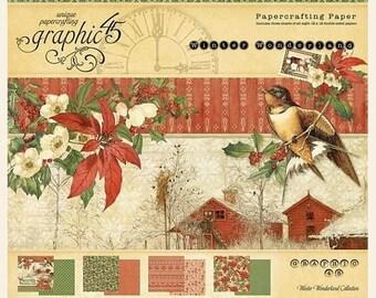 NOW ON SALE Preorder Graphic 45 Winter Wonderland 12x12 Paper Pad