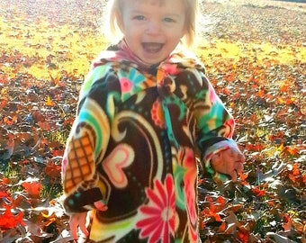 SALE Girls Jacket Pattern Fleece Hoodie in sizes 12 months-12 girls PDF Instant Whimsy Couture