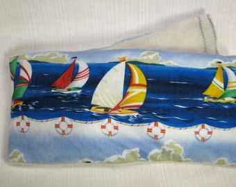 Therapy Rice Bag, Microwave Heat Pack, Rice Heating Pack, Therapy Sack, Blue Ocean Waves, Washable Cover,