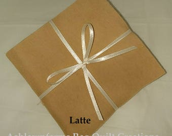 Solid LATTE, FLANNEL Fabric Squares,  Rag Quilt, Traditional Quilting, pick size & quantity, We Cut You Sew