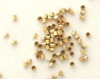 600 - 1X1mm Micro CRIMP BEADS 14K20 Gold Filled