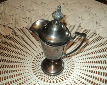 Vintage Forbes SP Silver Plated #284 Footed with Lid-- Creamer