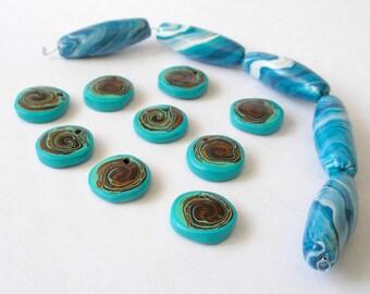Handmade Resin Beads Mixed Lot