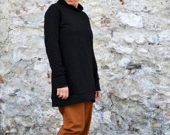 ON SALE Tunic sweatshirt,sweatshirt organic cotton, loose fit sweatshirts,tunic dress, organic cotton clothing,women,sweatshirt