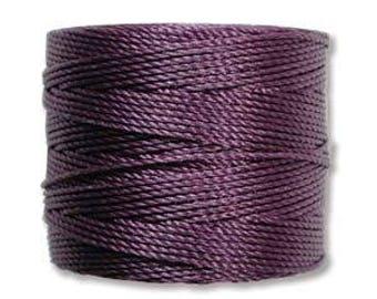 S-Lon Bead Cord Medium Dark Purple 77yrds. SLBC-MDP