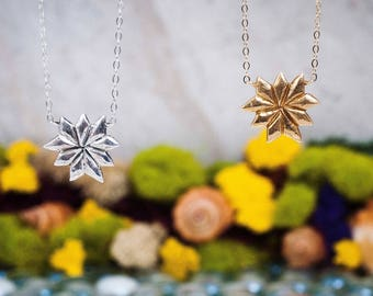 Moonlight Beam Necklace | Bronze and Gold-fill or Sterling Silver Necklace