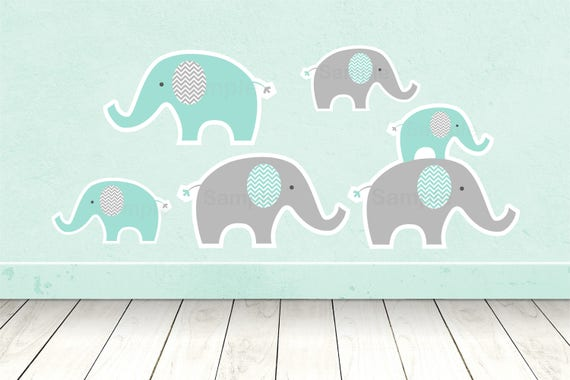 Cute Elephant Cut Outs Elephant Baby Shower Elephant