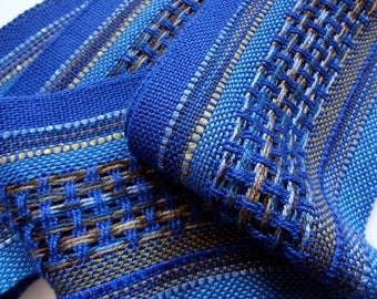 handwoven beautiful blues symphony scarf