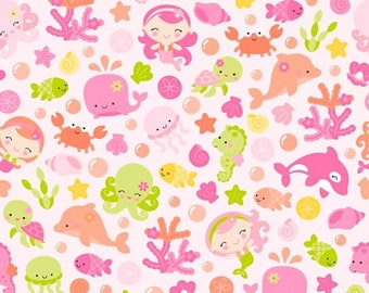 ON SALE Under The Sea By Doodlebug Design Pink Main