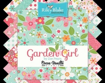 ON SALE Riley Blake Designs Garden Girl by Zoe Pearn Complete Bundle