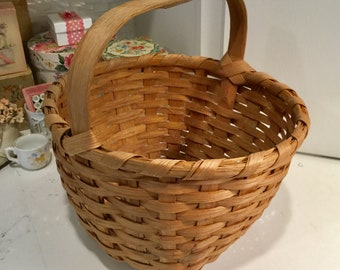 Antique Split Oak Gathering Berry Basket
