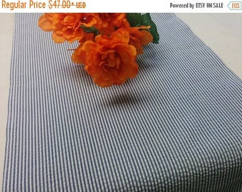 ON SALE SEERSUCKER Tablecloth- Colors - Red, light blue, navy blue, pink, yellow, wedding, bridal, baby shower, parties
