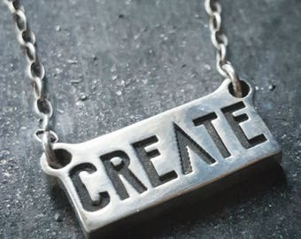 Create Silver Necklace Sterling Silver Makers Gonna Make Charm