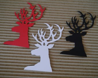 15 x reindeer gift tags,deer tags labels,christmas deer tags,christmas tags, christmas decor