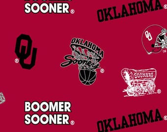 Oklahoma Sooners NoSew Fleece Blanket