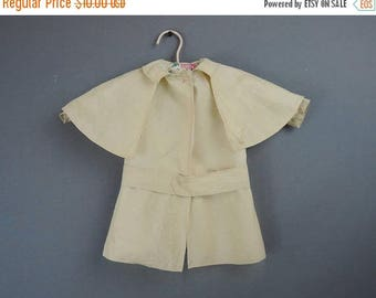 20% Sale - Vintage Doll Jacket Made from Antique Fabric, AS IS, 15 inches long, 18 inch chest, 1910s 1920s