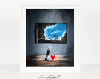 I Think We're Being Followed - LIMITED EDITION PRINT - Erback Print - Original Art - Fantasy Dreamscape - Signed - Best Selling - 8x10