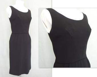 Vintage 1960's LBD, Black Party Dress, Short Formal, Modern Size 4 - 6, Extra Small to Small