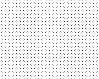 Swiss Dot On White Black  (C660 110)