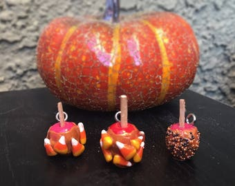 Fall Festival Caramel Apples: Deliciously Festive Caramel Apple Stitch Markers for Knitters & Crocheters