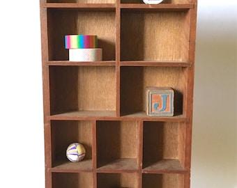 Vintage wood Shadow box knick knack display