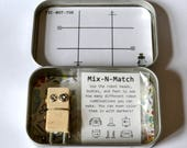ROBOTS for the ROAD, Magnetic Travel Game Tin with Block Bot Figure