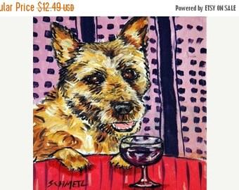 20% off storewide Belgian Shepherd at the Wine Bar Dog Art TILE Coaster  JSCHMETZ modern abstract folk pop art american ART gift