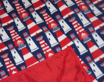 Waterproof Picnic Blankets - Picnic Blankets - Patriotic Lighthouses