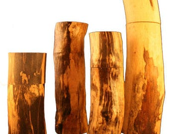 "12"" Pepper (or Salt) Mills from Spalted Maple Tree Branches"