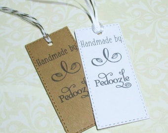 Handmade Tags -  Set of 20 - Personalized - Store tags - Leaves