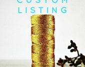 Custom Gold Metallic Bakers Twine | Metallic Gold Twine | Sparkly Gold Twine | Gold Glitter String | Anniversary | Wedding Twine