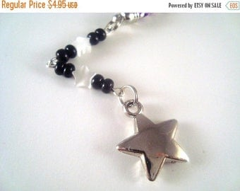 ON SALE Silver Star Cellphone Charm CH041 Cell phone Charm Plastic Mobile phone accessory