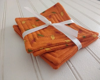 Set of 4 Quilted Coasters - Perfectly Seasoned (Set 11)
