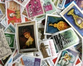 250 plus USED world postage stamp surprise grab bag  for your art projects