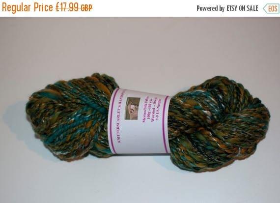 Christmas In July Green Merino/Silk Handspun Yarn 100g/102yds