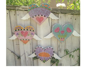 Hearts take Flight wall plaques