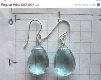 20% off FLASH SALE, AMAZING Drop Earrings, Aquamarine earrings, aquamarine quartz earrings, Mermaid Earrings, Mermaid Blue Quartz earrings,