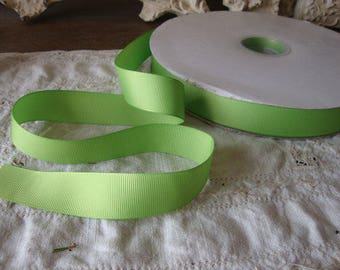 """Apple green grosgrain ribbon 3 yards 7/8"""" wide trims gift wrap embellishments wedding floral crafts supplies green ribbon fabric floral bows"""