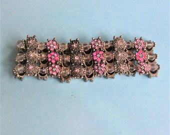 Vintage Rhinestone Bracelet Vintage Rhinestone Jewelry Stretch Bracelet Glam Jewelry