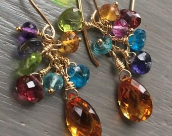 Gemstone Briolette Earrings