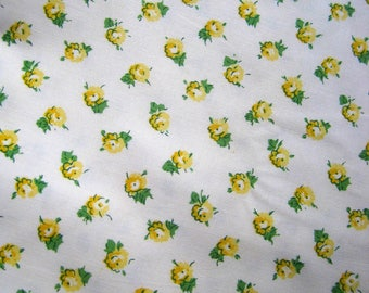 Pretty Vintage  Laura Ashley Fabric - 1997 Florals, Country Cottage,  Patchwork Fabric, Quilting Fabric, Yellow Rose Florals, Home Decor
