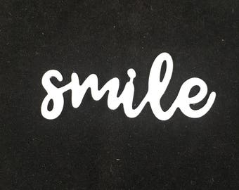 10 Die Cut Smile Cardmaking Scrapbook Embellishment