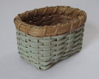 Mini Basket, Milk Painted Basket, Farmhouse Basket