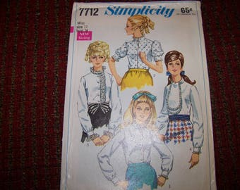 Simplicity 7712 ladies blouse pattern size 12 bust 34